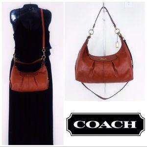 Coach Madison Pleated Burnt Orange Convertible Bag